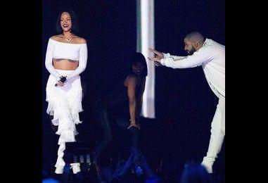 Rihanna and Drake reunite at birthday party