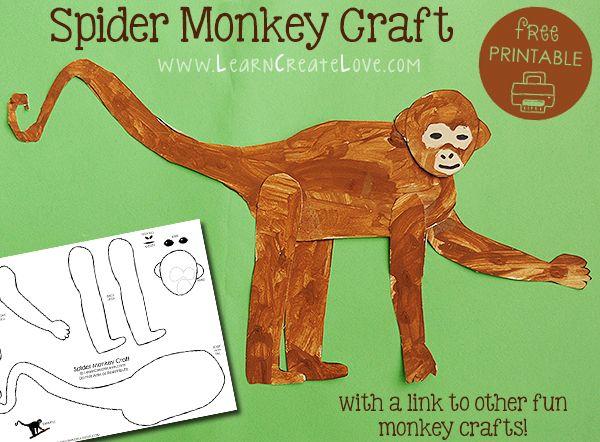 Spider Monkey Printable Craft