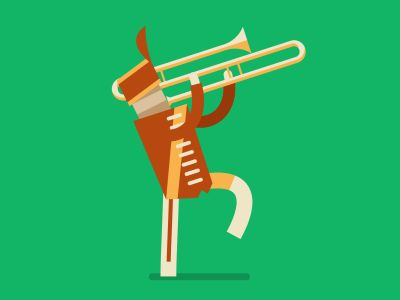 Marching Band Trombone by Fraser Davidson for Cub Studio