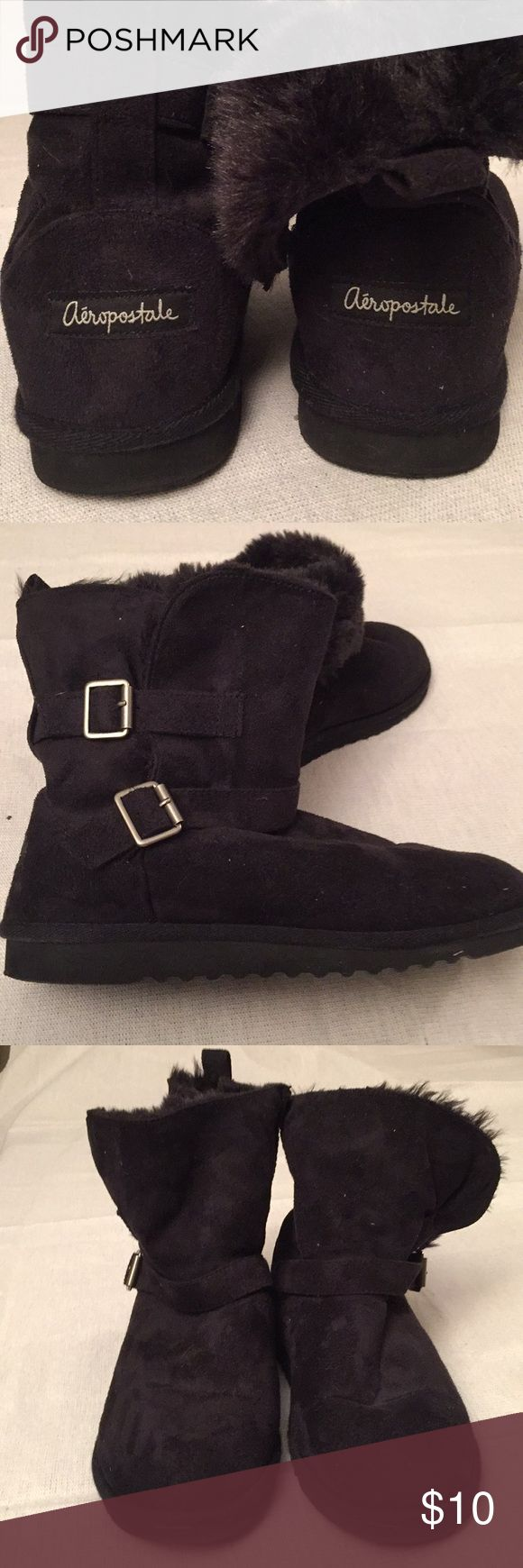 Aeropostal faux fur lined boots Women's booties/boots 🚭 Aeropostale Shoes Ankle Boots & Booties