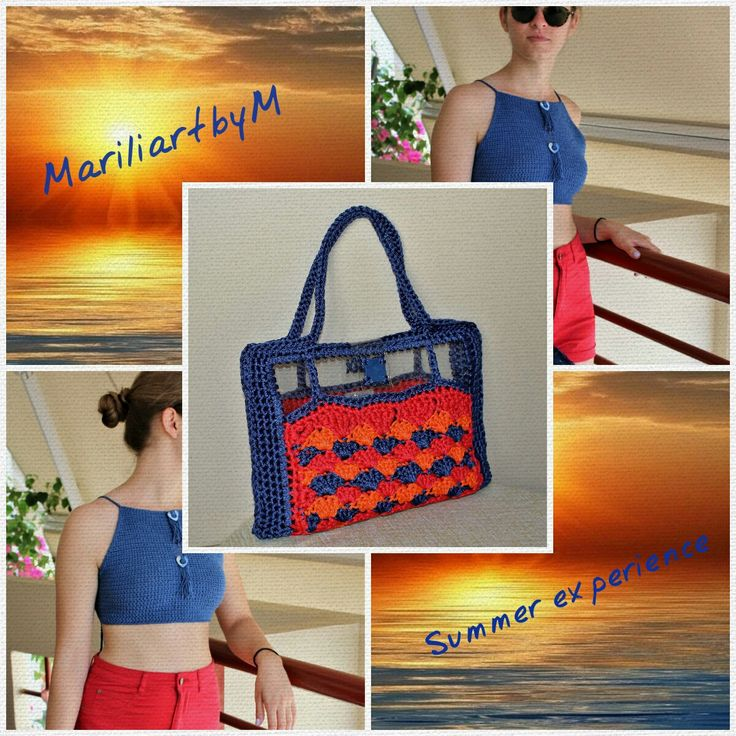 Multicolor shoulder bag Summer bag Summer trends Crochet