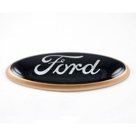cool ford logos. customize your ride with this classy black chrome and gold ford emblem cool logos