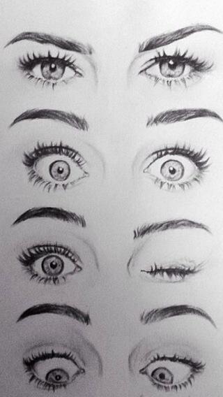 Art Drawings Tumblr – Klicke um das Bild zu sehen. Dessin – Expressions yeux – #dessin #expressions