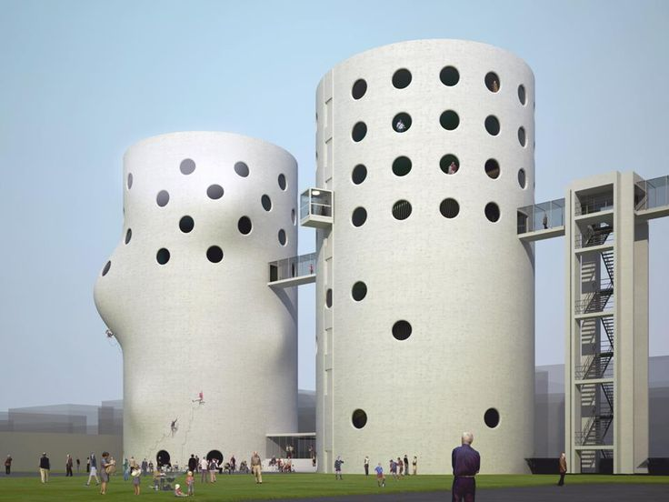 Adaptive Reuse of Amsterdam Silos by NL Architects