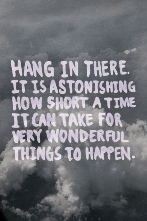 I keep telling myself this about a HUNDRED BILLION times a day. Hoping it becomes true sooner than later!!