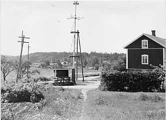 """SKS vuotuisjuhlat. Juhannus. Juhannussalko """"majstång"""" Kustavin Vartsalassa.  Juha Pentikäinen, 1962"""
