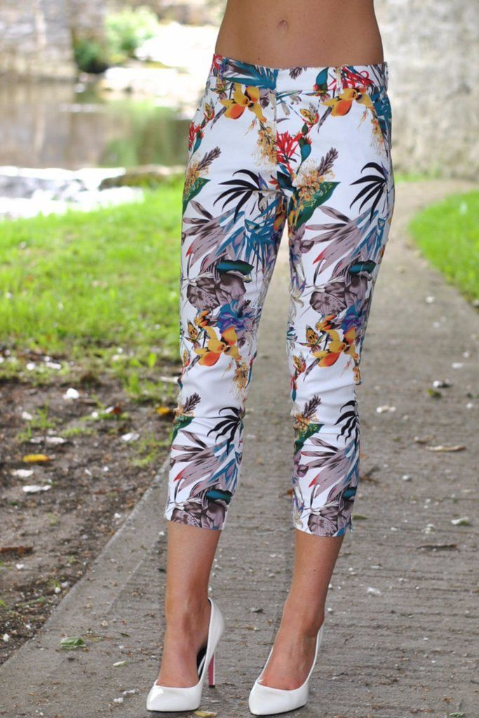 Jada White Print Pants