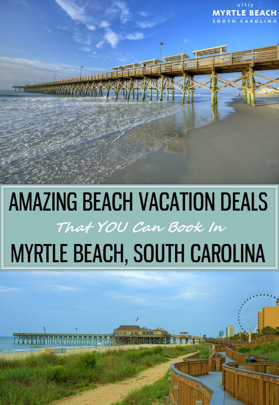 Myrtle Beach Vacation Deals that you can book for your next Oceanfront Getaway! Plan Your Next Beach Vacation to Myrtle Beach - We have 60 Miles of Beautiful Coastline and Oceanfront Accommodations so you are sure to Book the Perfect Getaway. #BeachVacation