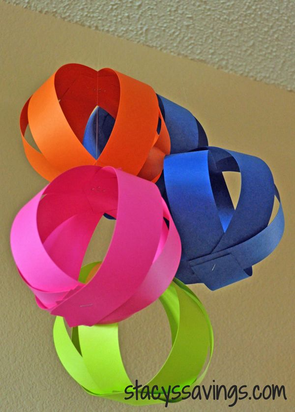 How to make easy party decorations. Hanging paper balls. Pinterest Tutorial. Pinterest Party Decorations.