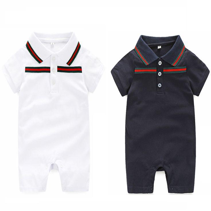 ベビーロンパースブランド0-24ヶ月新生児男の子服と帽子夏ベビーロンパースセット服スーツ赤ちゃん服