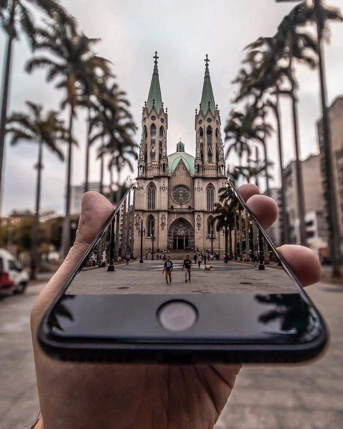 La plus célèbre église de São Paulo, au Brésil. – #Brésil #Eglise #well-known #Paulo