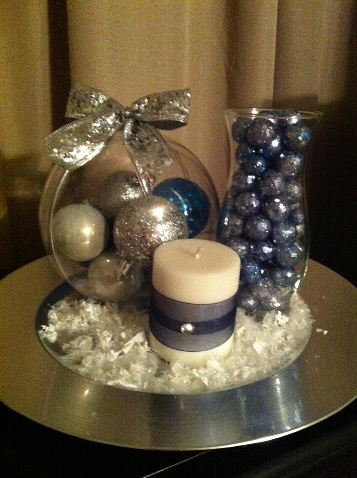 Centerpiece For Winter Inspired 50th Birthday Party