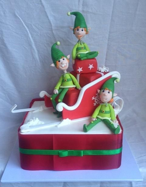 Christmas elves cake - Cake by Trina Knill