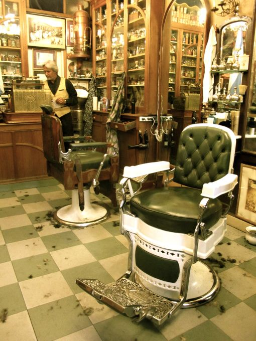 Neat old time barber shop scene