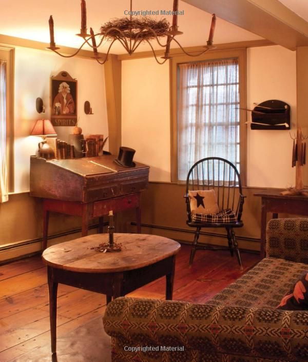 From early american country interiors by author tim for American country style interior design