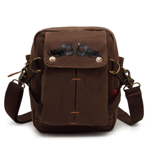 b3f9a0dac7b AUGUR Men Canvas Leisure Shoulder Bag Vintage Style Crossbody Waist Bag