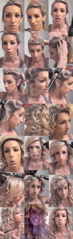 VIDEO PHOTOS Teen Mom Chelsea Houska how-to hair tutorial - starcasm.net