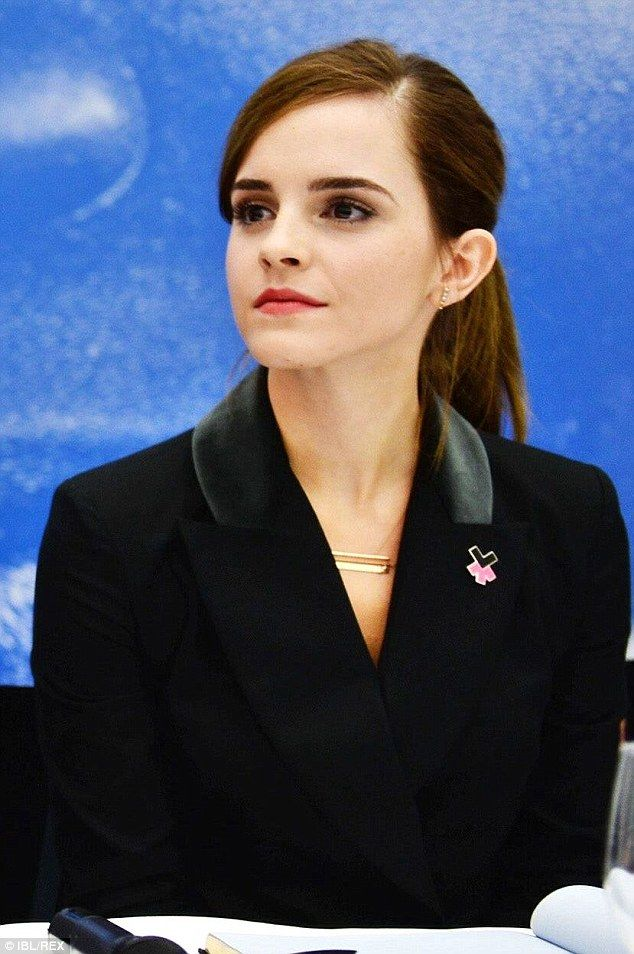 New campaign: Emma Watson appeared at the World Economic Forum in Davos, Switzerland on Friday along with UN Women to announce thenew HeForShe IMPACT 10X10X10 pilot initiative