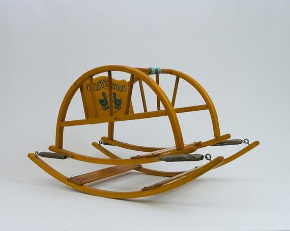 Mid-Century Modern Baby Toy Rocker Bouncing Teeter Totter on Etsy, $250.00