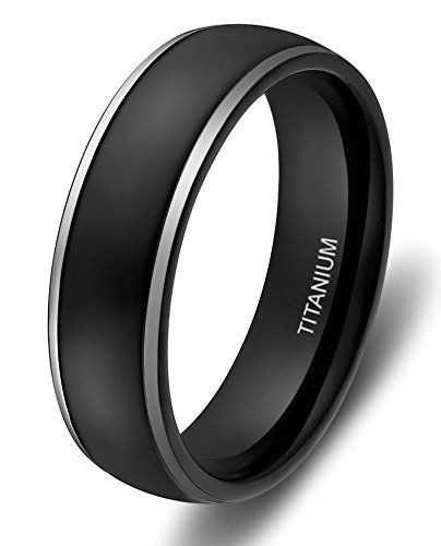 4mm 6mm 8mm Titanium Rings for Men Women Black Dome Two Tone Polish Wedding Band (titanium, 10) SOMEN TUNGSTEN http://www.amazon.com/dp/B00MVU1HZO/ref=cm_sw_r_pi_dp_Qbwhwb1AK9HCY