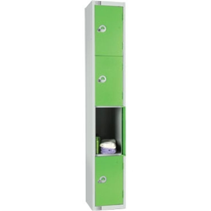 Four Door Locker with Sloping Top