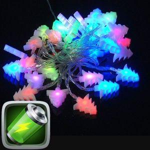 30 Λαμπάκια Led Μπαταρίας δεντράκι πολύχρωμο φως
