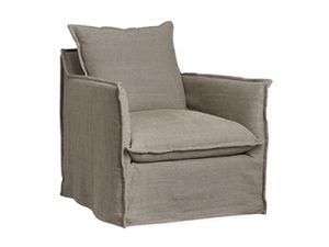 LEE Industries Custom C1297-01SW Slipcovered Swivel Chair | HUE