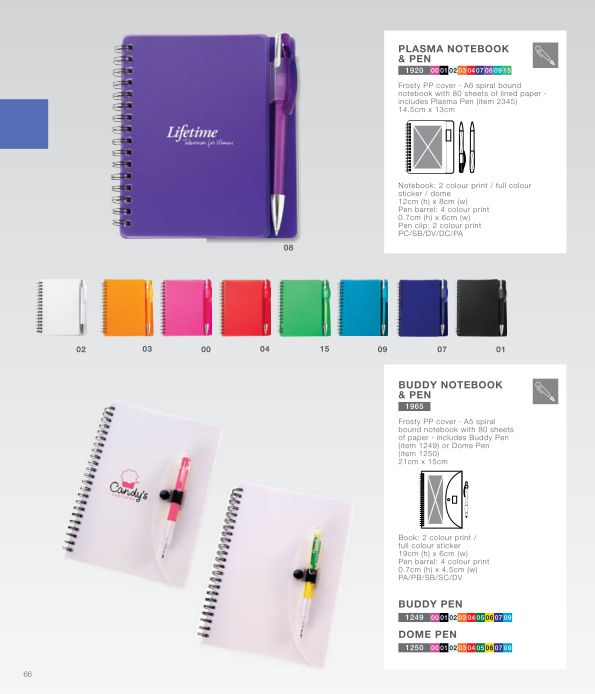 Plasma Notebook and Pen and Buddy Notebook and Pen