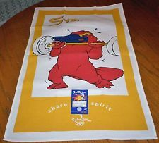 NWT Sydney 2000 Olympics Souvenir Kitchen Dish Towel 100% Cotton Australia