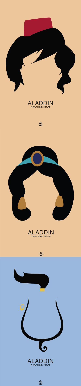 Minimal Movie Posters - Aladdin (aka the best Disney animated movie)
