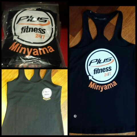 New tank top for Plus Fitness Minyama for their first birthday.