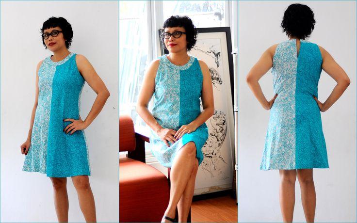 Two Tones Aline Dress, Casual Cotton Dress, Women Batik Dress by Gorjesboutique on Etsy
