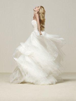 Abito da sposa principessa con bustino senza spalline