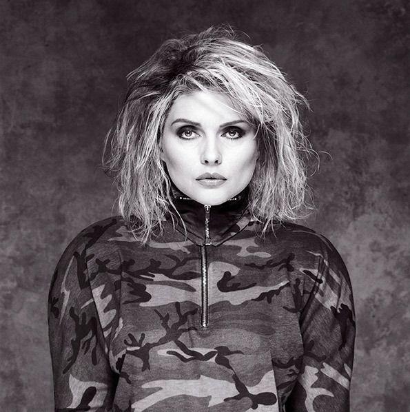 Brian Aris: Debbie Harry, Cammo Outfit, Holborn Studios, London, 1987.