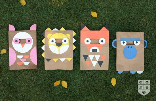 Paper bag costumes!