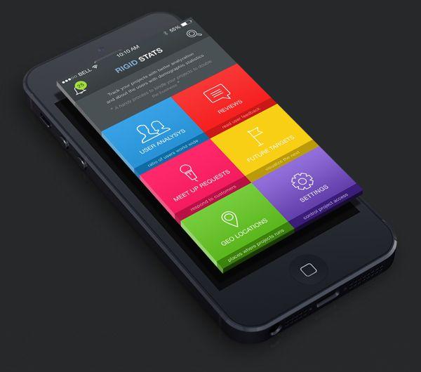 RIGID STATS : A statistics App on Behance