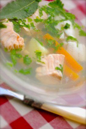 Лёгкий рыбный суп