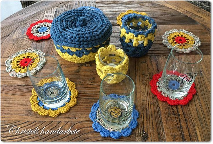 Colorful Crochet, virkat set i glada färger.