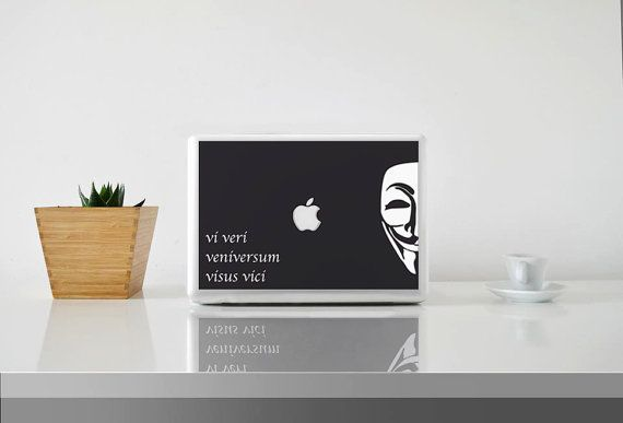 V for Vendetta || MacBook sticker || our online store: www.etsy.com/it/shop/PasteITsticker || our facebook page: https://www.facebook.com/pasteit.it || #pasteit #sticker #stickers #macbook #apple #blackandwhite #art #drawing #custom #customize #diy #decoration #illustration #design #technology #computer #pc #censored #concept #idea #movie #quotes #words #lettering #minimalist #decal #skin #cover #laptop #vendetta #vforvendetta #comics