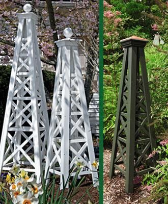 Let your garden reach new heights with a garden obelisk.