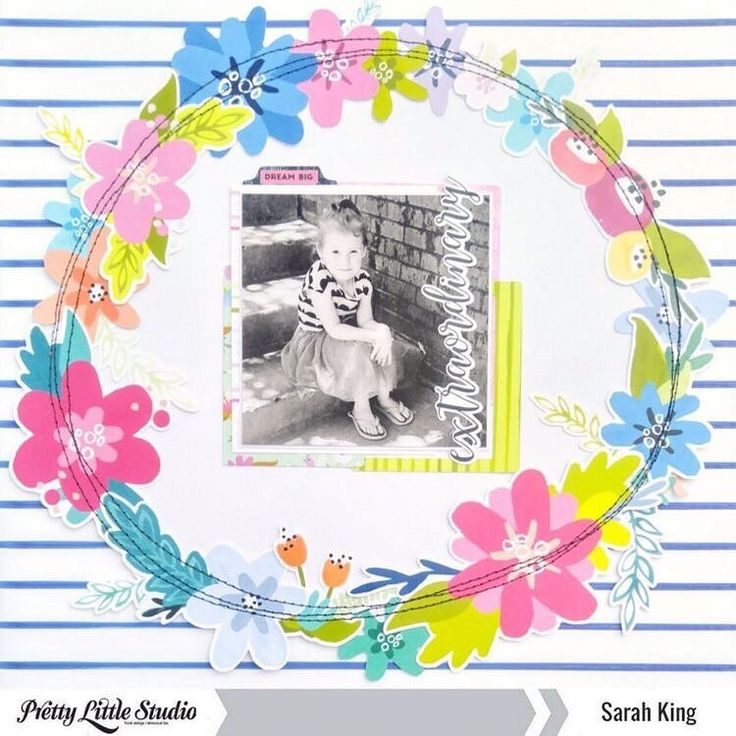 Here is another amazing layout created by designer @mother0froyalty with the Tales & Dreams collection!  .  .  #prettylittlestudio #ziniatalesanddreams #scrapbooking #papercrafts