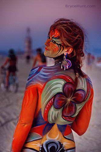 Burning Man, beautiful body paint!
