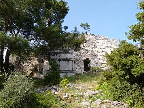 THE WEST WALL OF THE CASTLE - Thasos