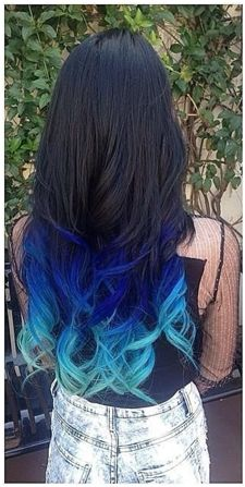 blue ombre | Tumblr