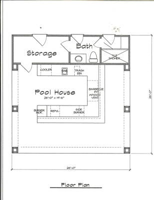 Details about POOL HOUSE PLANS COMPLETE Pool houses House and Bath