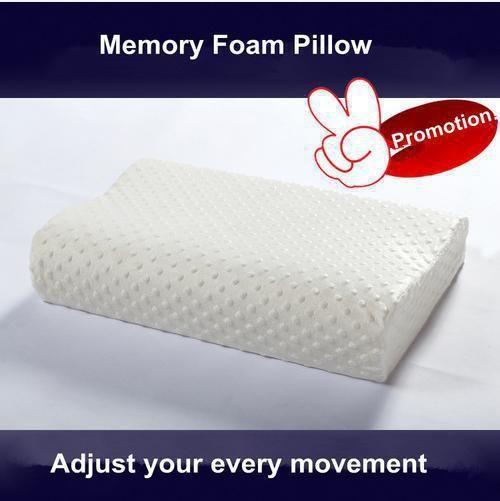 55x35cm memory foam pillow cervical neck protector bed pillow removable zipper cover