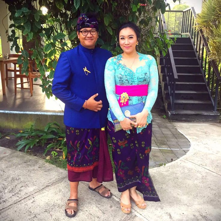 Balinese couple in balinese outfit