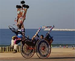 Rickshaw on Durban Beach