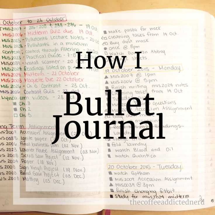 Coffee, Books, & Success | on the blog: How I Bullet Journal