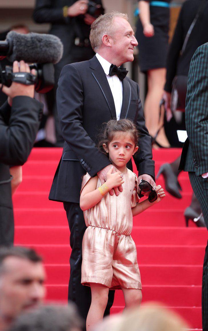 Pin for Later: Le glamour est au rendez-vous au festival de Cannes !  Valentina Pinault sur le tapis rouge avec son papa Francois Henri Pinault à l'avant-première du film de sa maman Salma Hayek, The Prophet, samedi.